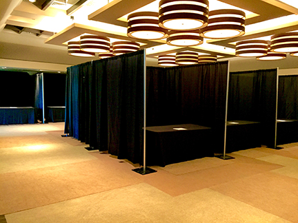 pipe and drape corporate and wedding parties